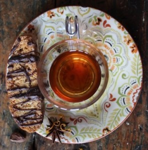 Cup of tea and biscotti