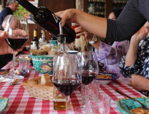 Wine at lunch - Amalfi Coast - Wines Compania - Delectable Destinations Culinary Tours - Carol Ketelson