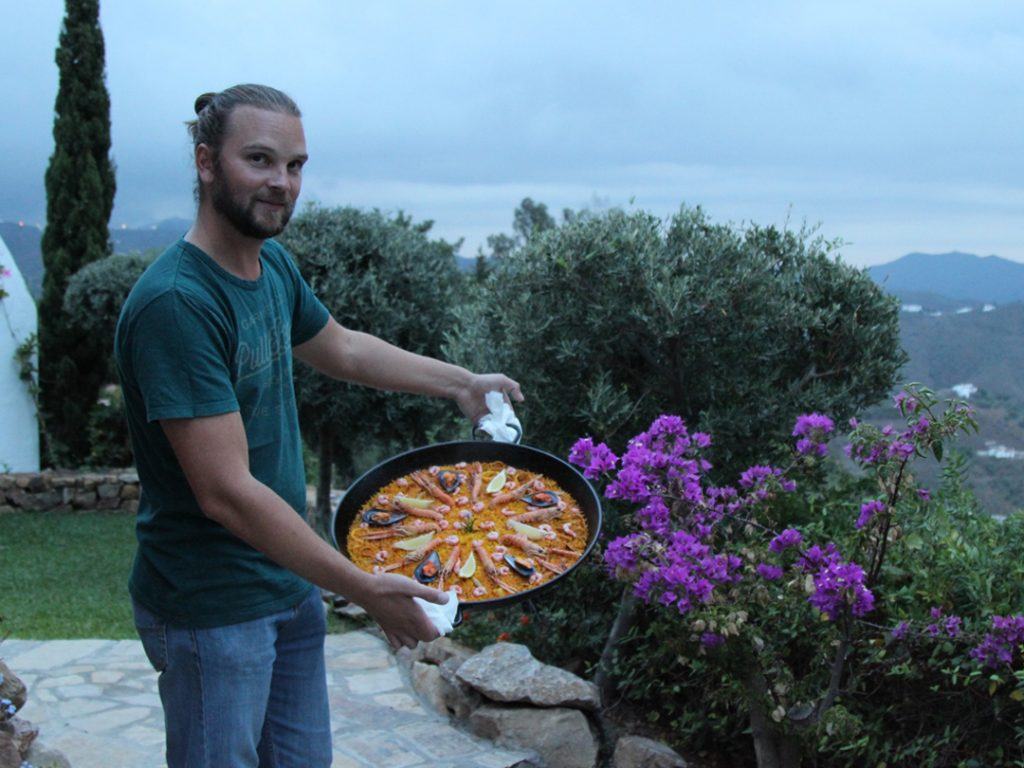 chef David paella Andalucia Spain Carol Ketelson Delectable Destinations Culinary Tours