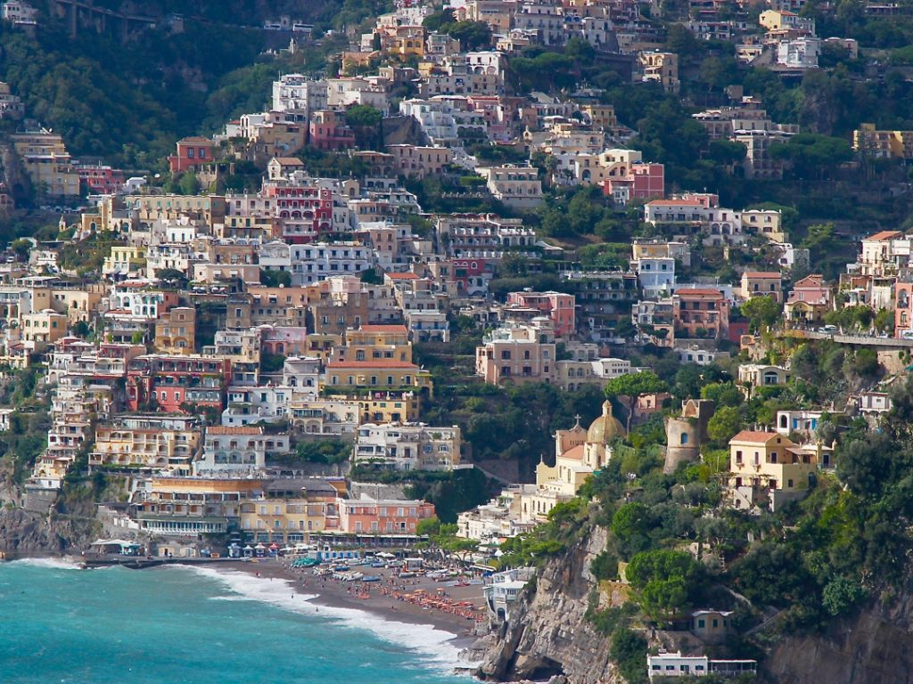 panoramic view of Positano Amalfi Coast Italy Carol Ketelson Delectable Destinations Culinary Tours