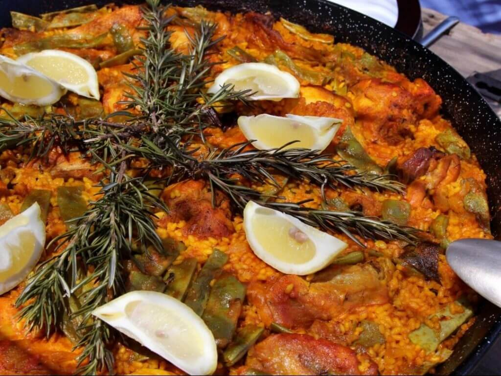 chicken and rabbit paella Andalucia Spain Carol Ketelson Delectable Destinations Culinary Tours
