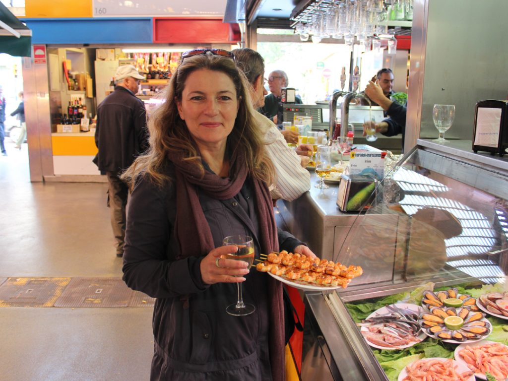 Tapas at market Malaga Andalucia Spain Carol Ketelson Delectable Destinations Culinary Tours