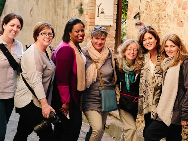 Our wonderful group! Food Styling and Photography Workshop in Tuscany - © Carol Ketelson, Delectable Destinations
