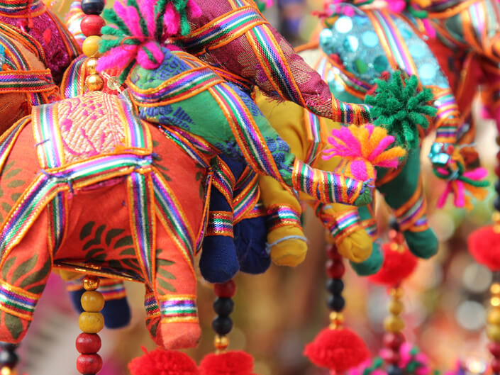 Colorful souvenir trinkets at local market in Old Delhi, Carol Ketelson, Delectable Destinations - Top 5 Reasons Visit India Golden Triangle