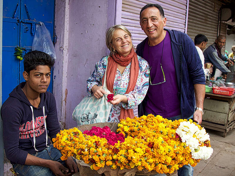 Delectable Destinations tour of India Flower market Old DelhiCarol Ketelson Delectable Destinations Culinary Tours