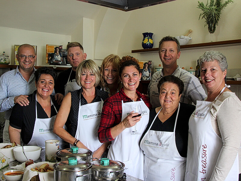 Cooking class at Mamma Agtata's Cooking School on the Amalfi Coast Italy Carol Ketelson Delectable Destinations Culinary Tours