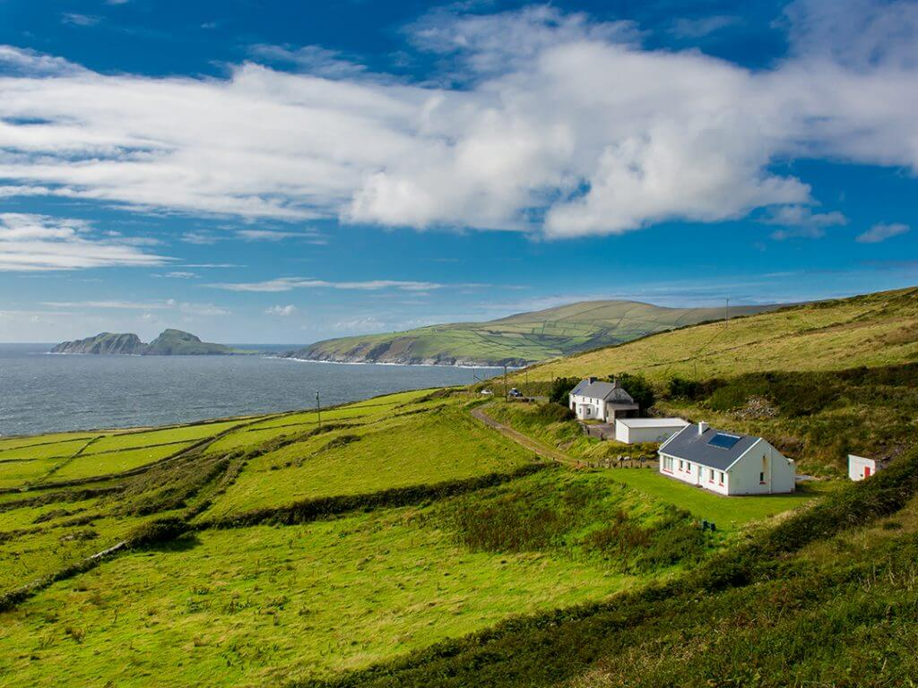 Houses on Irish Coast Delectable Destinations Culinary Tour of Ireland