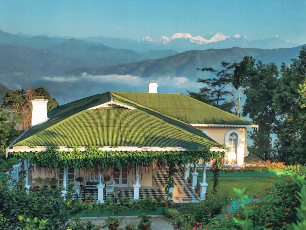 view of Himalayan peaks Glenburn Tea Estate Delectable Destinations Culinary Tour India
