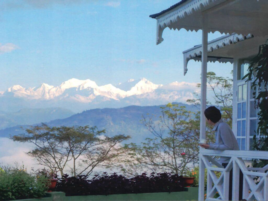 view of Mount Kanchenjunga third-highest peak in the world Glenburn Tea Estate Delectable Destinations Culinary Tour India