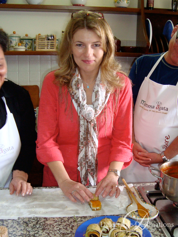 Carol at Mamma Agata's Cooking School