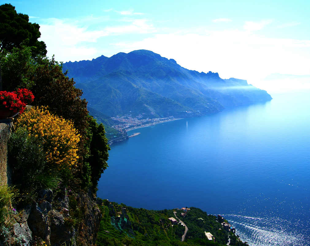 A view of the Amalfi Coast from Ravello Italy