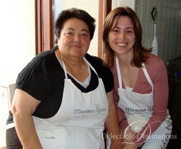 Marcella with Mamma Agata