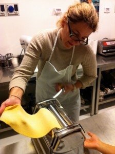 Carol making home-made pasta Delectable Destinations private tour guide tuscany culinary vacation blog