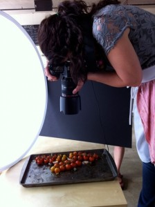 The very talented Aran takes the perfect shot! Food Styling Photography Workshop