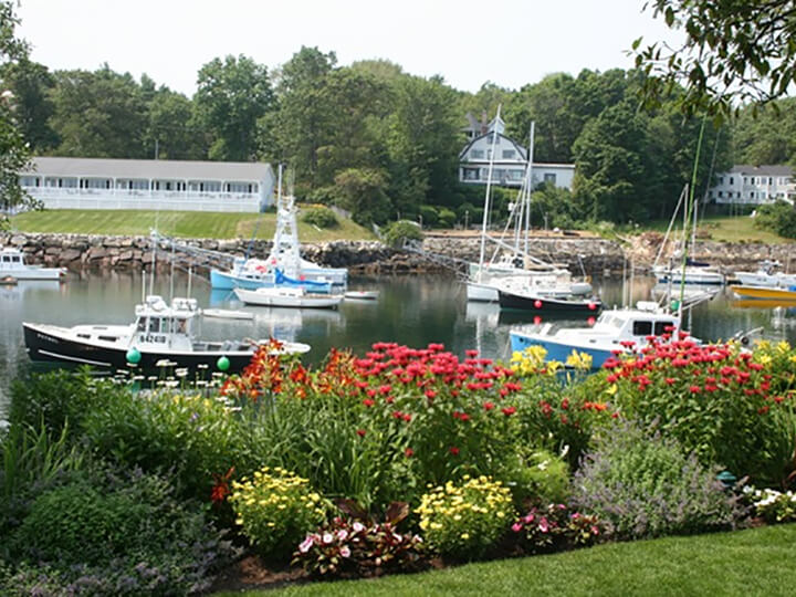 View of small harbour near Ogunquit Maine