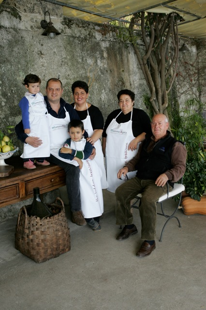 The Agata family Mamma Agata's Cooking School on the Amalfi Coast Delectable Destinations Culinary Tour