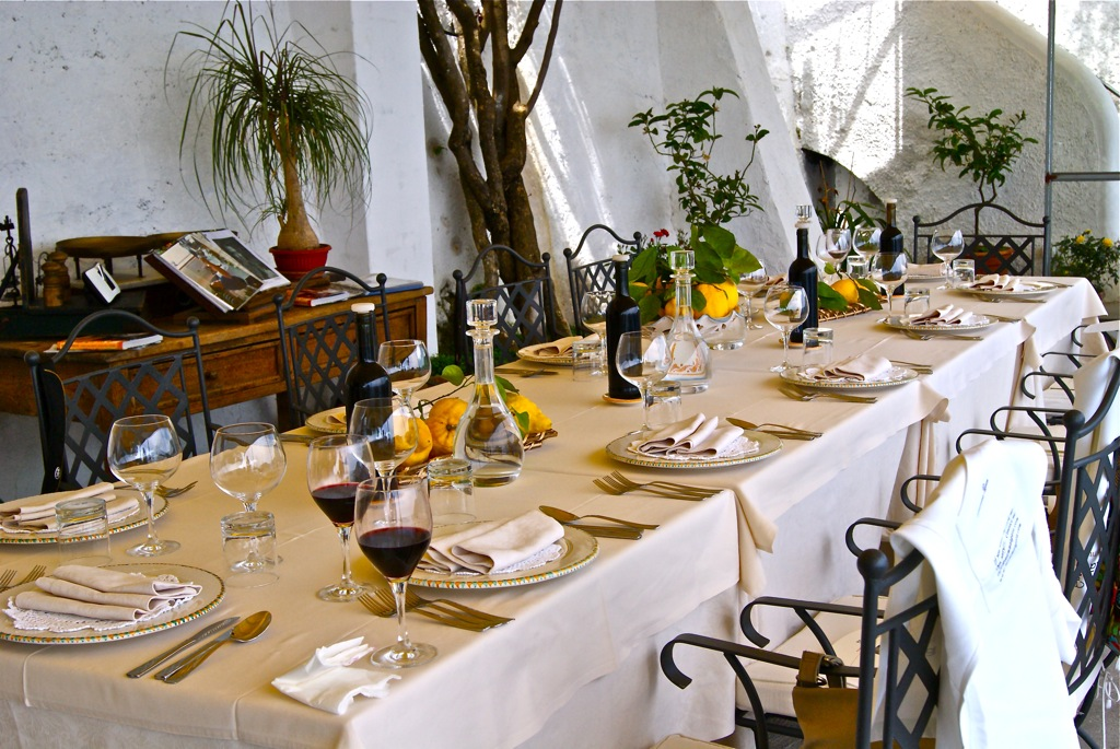 The Agata family terrace Mamma Agata's Cooking School on the Amalfi Coast Delectable Destinations Culinary Tour