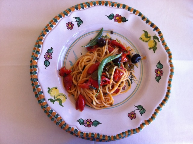 Spaghetti of the farmer Mamma Agata's Cooking School on the Amalfi Coast Delectable Destinations Culinary Tour