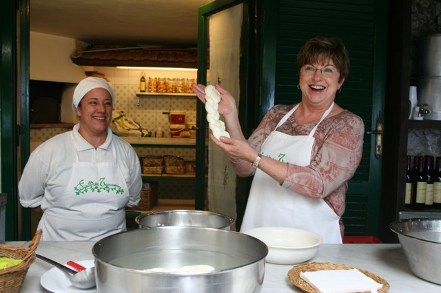 A wonderful visit to the Mozzarella Cheese Factory Delectable Destinations Amalfi Coast Culinary Adventure Carol Ketelson