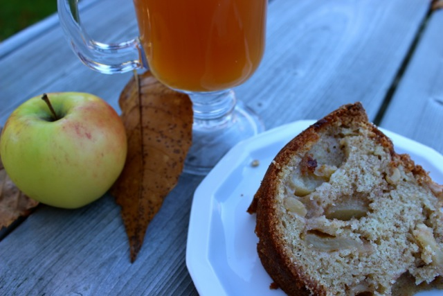Warm apple cider and Jodie's Thanksgiving Apple Spice Cake Delectable Destinations Carol Ketelson