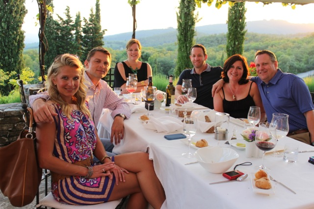Dinner at the vineyard Fine Dinning and Wines - Tuscany Culinary Adventure Lifetime - Delectable Destinations Culinary Tours - Carol Ketelson