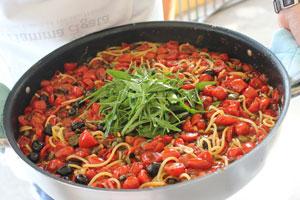 Farmers Spaghetti at Mamma Agata's - Italian Love Affair Food Culinary Tours - Delectable Destinations - Carol Ketelson