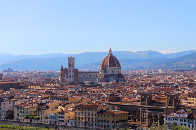 A view of Florence Italy - Touring Tuscany Culinary Tours - Delectable Destinations - Carol Ketelson