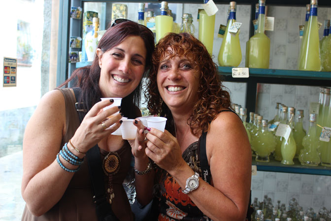 Enjoying the taste of the perfect Limoncello in Ravello! - Ultimate Girl's Getaway Culinary Tours - Delectable Destinations - Carol Ketelson
