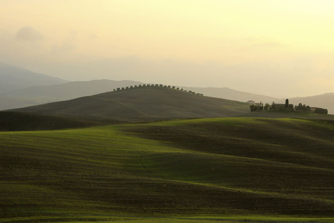 Tuscan Landscape in October - Touring Tuscany Culinary Tours - Delectable Destinations - Carol Ketelson