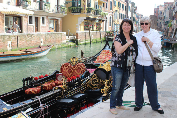 Can you see yourself here in Venice - Ultimate Girl's Getaway Culinary Tours - Delectable Destinations - Carol Ketelson
