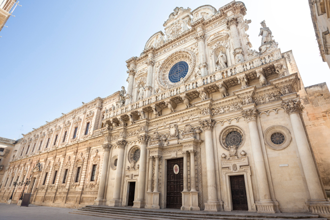 Baroque monuments in beautiful Lecce - Discovering Puglia Luxury Travel - Delectable Destinations - Carol Ketelson