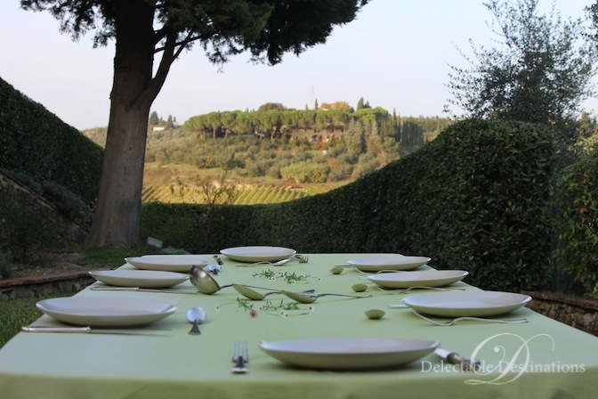 Dinner at Villa La Quercia Estate in Impruneta - Tuscany Food Styling Photography - Delectable Destinations - Carol Ketelson