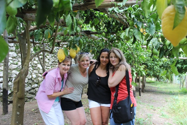 Perfect way to start any trip…under lemon trees at La Valle dei Amalfi - Memories 2014 Culinary Tours - Delectable Destinations - Carol Ketelson