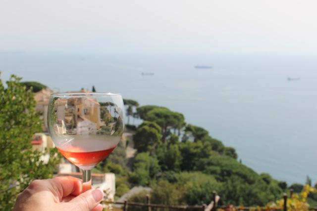 Wine Tastings at Le Vigne di Raito overlooking Vietri sul Mare on the Amafli Coast - Memories 2014 Culinary Tours - Delectable Destinations - Carol Ketelson
