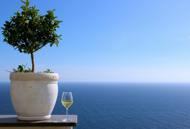 Wine Glass - Amalfi Coast - Memories 2014 Culinary Tours - Delectable Destinations - Carol Ketelson