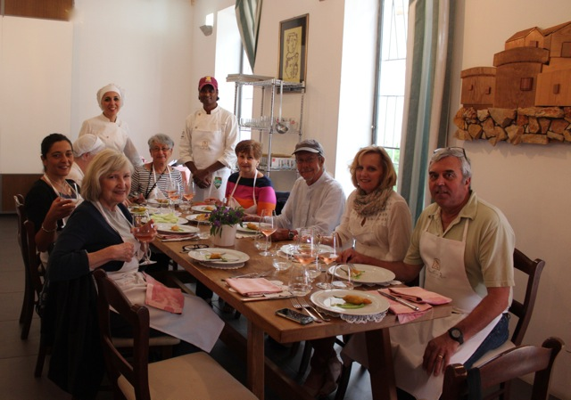 Cooking day with Michelin star chef Antonella di Ricci and her husband Vinod Sookar at the celebrated Michelin Star Restaurant Al Fornello da Ricci in Puglia - Memories 2014 Culinary Tours - Delectable Destinations - Carol Ketelson