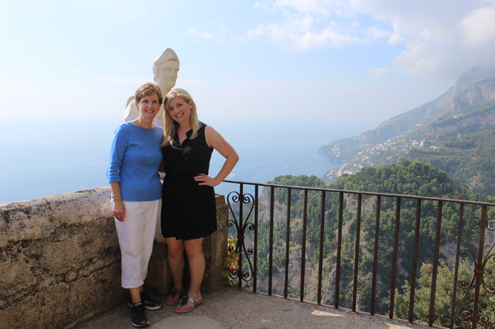 Perfect mother and daughter trip. Spectacular views from Villa Cimbrone in Ravello, Italy - Girls Getaway Luxury Travel Delectable Destinations Carol Ketelson