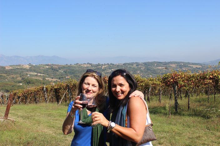 No better place to taste wine than in the vineyards. Salute! - Girls Getaway Luxury Travel Delectable Destinations Carol Ketelson