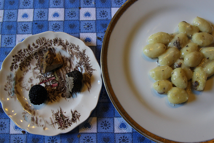 Cooking with Truffles, Gnocchi with Shaved Truffles, Culinary Tour in Tuscany - Truffle Hunting - Delectable Destinations Culinary Tour Carol Ketelson