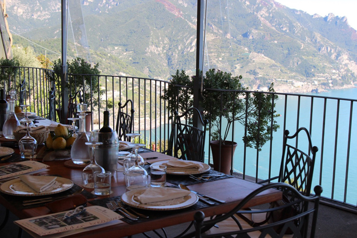 Views from the terrace at Mamma Agata's Cooking School, Ravello, Amalfi Coast - Mamma Agata's Kitchen Culinary Tours Delectable Destinations Carol Ketelson