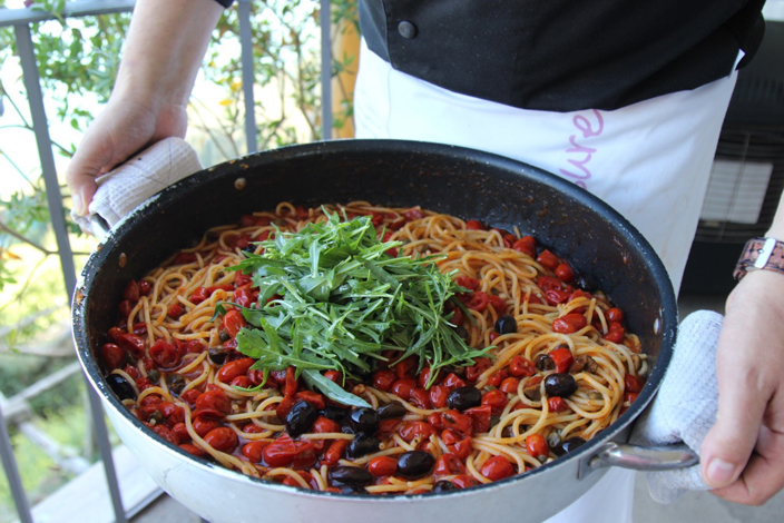 Farmer's Spaghetti at Mamma Agata's Cooking School on the Amalfi Coast - Mamma Agata's Kitchen Culinary Tours Delectable Destinations Carol Ketelson