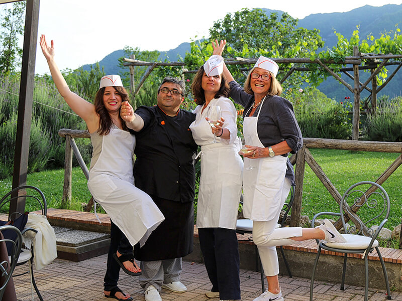 Fun evening with Chef Luigi Amalfi Coast Italy Carol Ketelson Delectable Destinations Culinary Tours