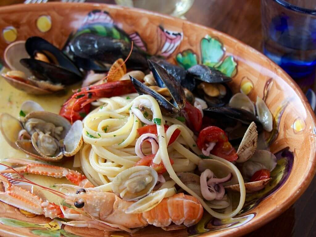 Seafood on the Amalfi Coast Marina Grande Restaurant Carol Ketelson Delectable Destinations Culinary Tours