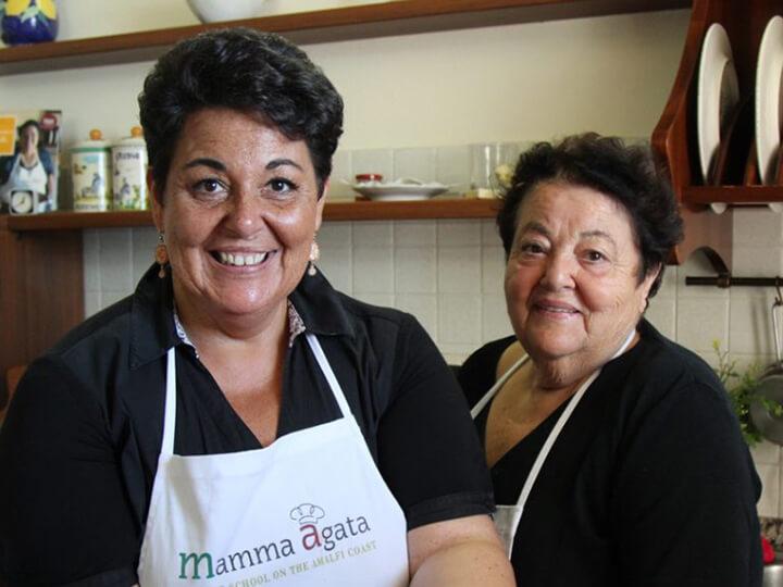 mamma-agata-and-chiara-lima-Amalfi Coast Christmas Zeppole Doughnut Recipe
